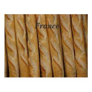 France - French Bread Postcard