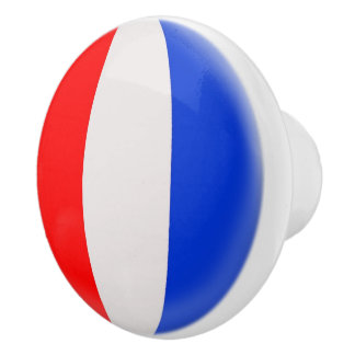 France French Flag Ceramic Knob