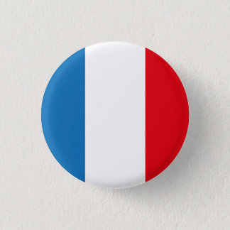 FRANCE French Flag Pine Short prop Swipes in 3 Cm Round Badge