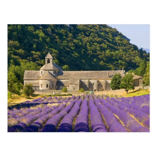 France, Gordes. Cistercian monastery of Postcard