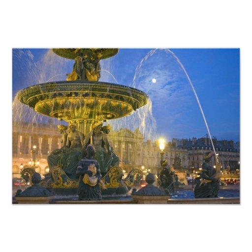 France, Ile de France, Paris, Concorde place, 2 Photo Print