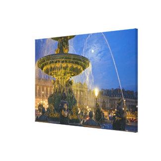 France, Ile de France, Paris, Concorde place, 2 Stretched Canvas Print