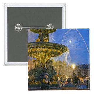 France Ile de France Paris Concorde place Pinback Buttons