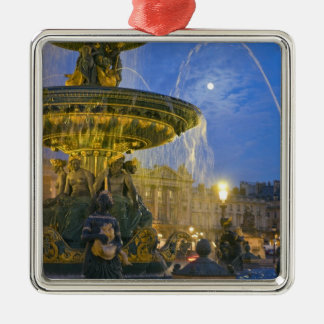 France, Ile de France, Paris, Concorde place, Silver-Colored Square Decoration