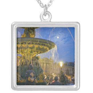France, Ile de France, Paris, Concorde place, Square Pendant Necklace