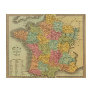 France In Departments 2 Wood Print