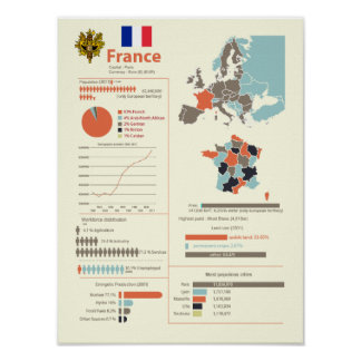 France Infographic Poster