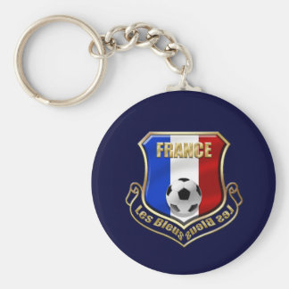 France les Bleus Logo Shield Emblem Key Ring