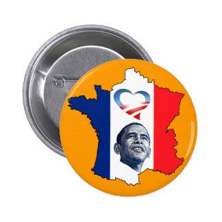 France Loves Obama 6 Cm Round Badge