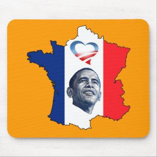 France Loves Obama Mouse Pads