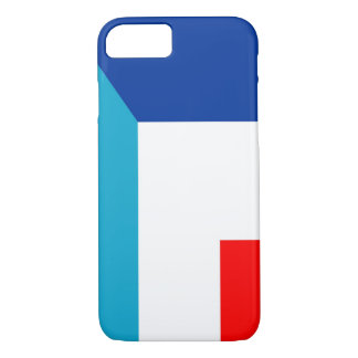 france luxembourg flag country half symbol iPhone 8/7 case