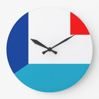 france luxembourg flag country half symbol large clock