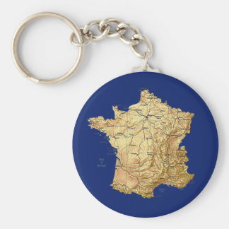 France Map Keychain