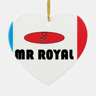 France Mr.-Royal Ceramic Heart Decoration