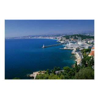 France, Nice, aerial view of the port Posters