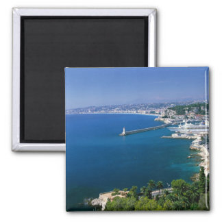France, Nice, aerial view of the port Square Magnet