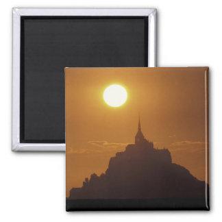 France, Normandy. Mont Saint Michele Square Magnet