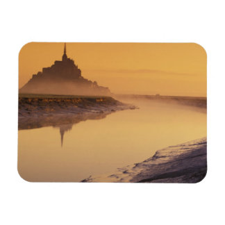 FRANCE, Normandy Mont St. Michel. Morning Light Magnet