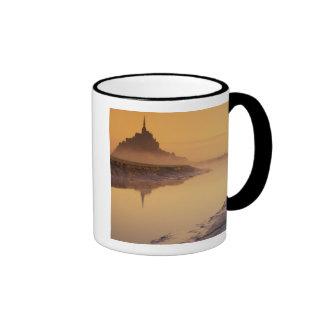 FRANCE, Normandy Mont St. Michel. Morning Light Ringer Mug