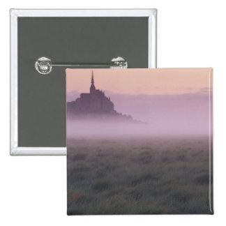 FRANCE, Normandy Mont St. Michel. Morning Mist 15 Cm Square Badge