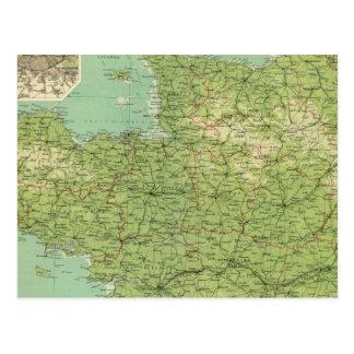 France northwestern section, environs of Paris Postcard