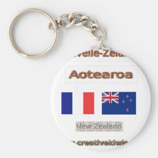France, Nouvelle-Zélande Key Ring