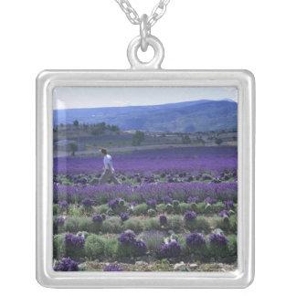 France, PACA, Alpes de Haute Provence, Manual Square Pendant Necklace