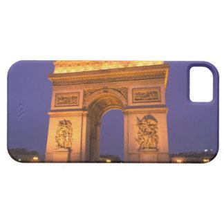France, Paris, Arc de Triomphe at dusk. iPhone 5 Covers