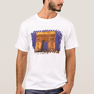 France, Paris, Arc de Triomphe at dusk. T-Shirt