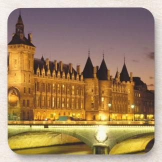 France, Paris, Conciergerie and river Seine at Coaster