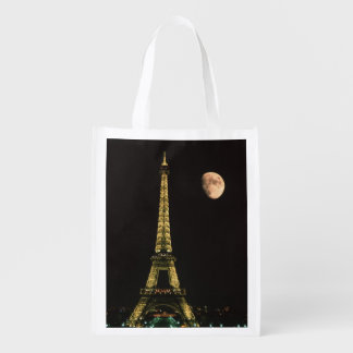 France, Paris. Eiffel Tower at night with