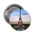 France Paris Eiffel Tower (by St.K) 6 Cm Round Badge