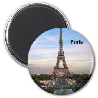 France Paris Eiffel Tower (by St.K) 6 Cm Round Magnet