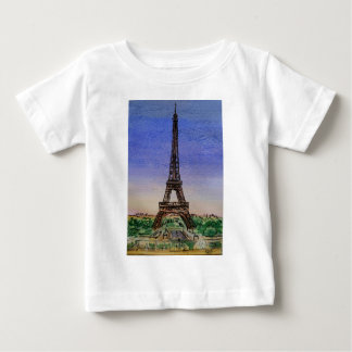 france-paris-eiffel-tower-clothes baby T-Shirt