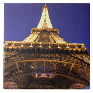 FRANCE, Paris Eiffel Tower, evening view Ceramic Tile