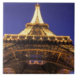 FRANCE, Paris Eiffel Tower, evening view Large Square Tile