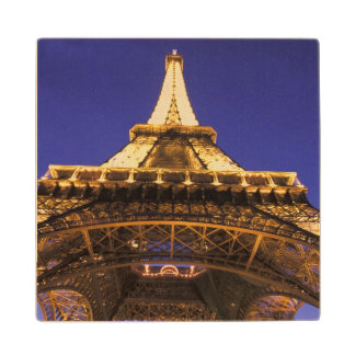 FRANCE, Paris Eiffel Tower, evening view Maple Wood Coaster