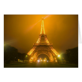 France, Paris. Eiffel Tower illuminated at 3 Card