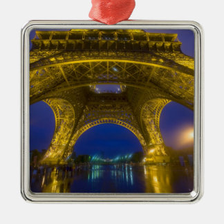 France, Paris. Eiffel Tower illuminated at Metal Ornament