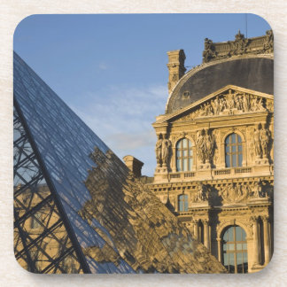 France, Paris, Louvre Museum and the Pyramid, Beverage Coasters
