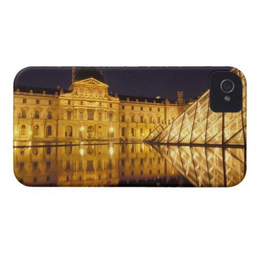 France, Paris, Louvre museum by night. Blackberry Bold Case