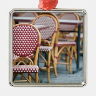 FRANCE, PARIS, Montmartre: Place du Tertre, Cafe Silver-Colored Square Decoration