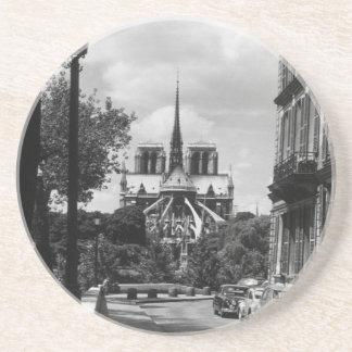 France Paris notre dame saint louis island 1970 Drink Coaster