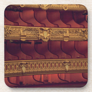 France, Paris. Partial view of balcony seating Beverage Coaster