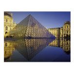 FRANCE, Paris Reflection, Pyramid. The Louvre Postcard