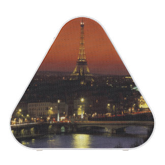 France, Paris Sunset view of Eiffel Tower and