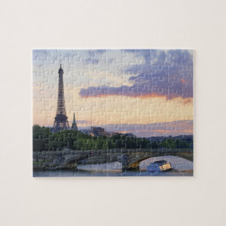 France,Paris,tour boat on River Seine,Eiffel Jigsaw Puzzle