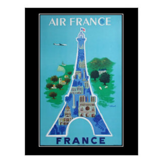 France Paris Travel Vintage poster french