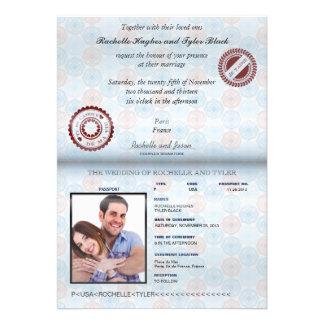 France Passport UNLOCKED Wedding Invitation II