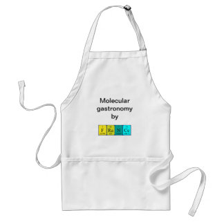 France periodic table name apron